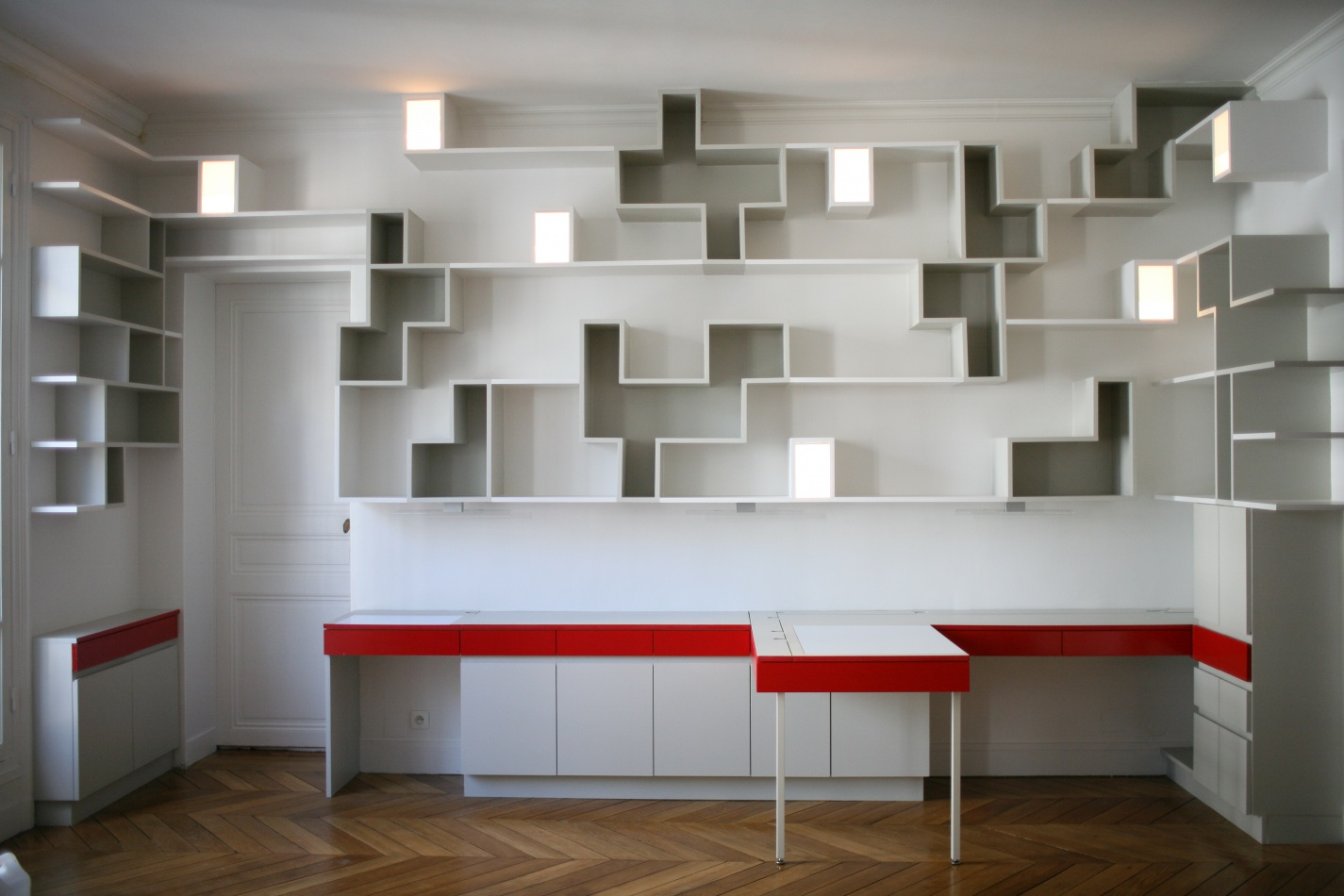 Meuble multifonctions paris 19 agn s agn s architecture for Bureau bibliotheque